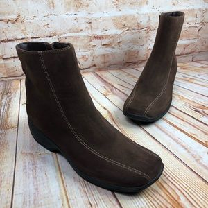 Clarks ASHLYN Suede Water Resistant Ankle Boots